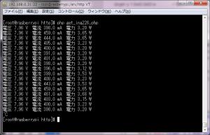 ina226テストプログラム実行